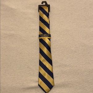 New Club Room Blue & Gold Stripe Tie